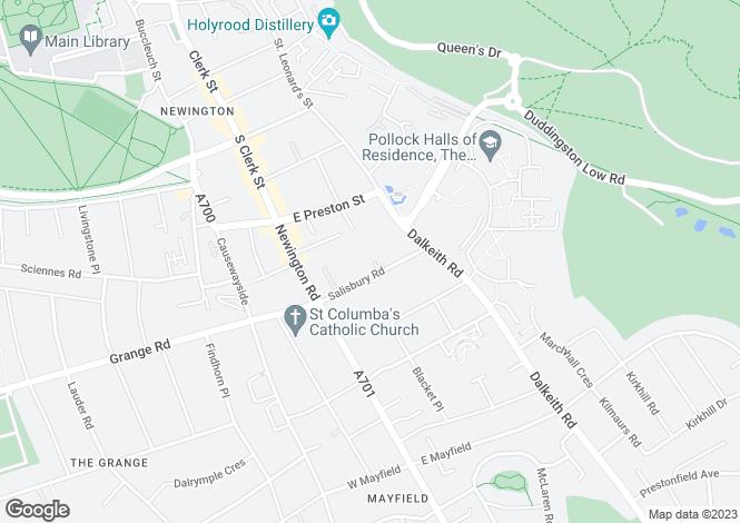 Map for Salisbury Road,Edinburgh,EH16