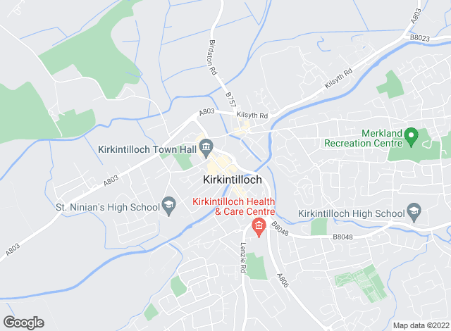 Map for Box Property, Kirkintilloch