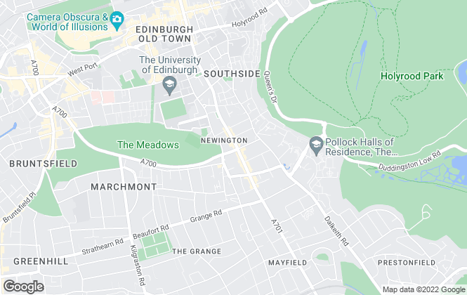 Map for VMH Solicitors, Edinburgh