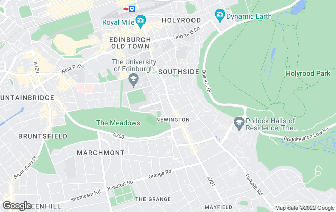 Map for Warners Solicitors, Edinburgh