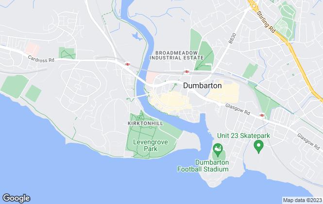 Map for Caledonia Bureau, Dumbarton