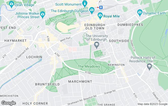 Map for Morton Fraser, Edinburgh