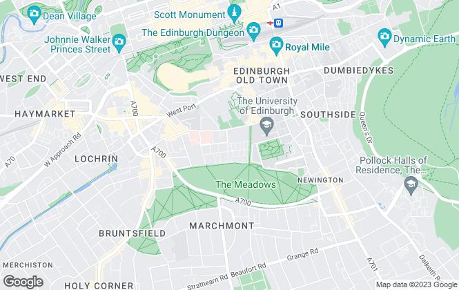Map for Umega Lettings, Edinburgh