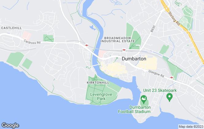 Map for Allen & Harris, Dumbarton