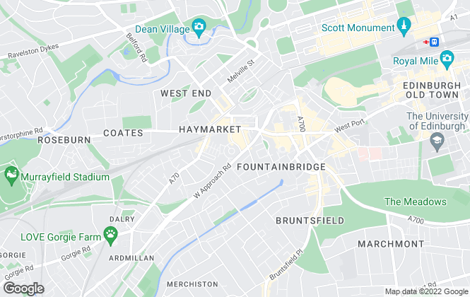 Map for Adam & Flowerdew, Edinburgh