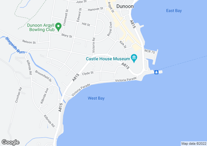 Map for West Bay, Dunoon