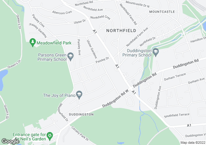 Map for 4  Lady Nairne Loan, Duddingston, Edinburgh