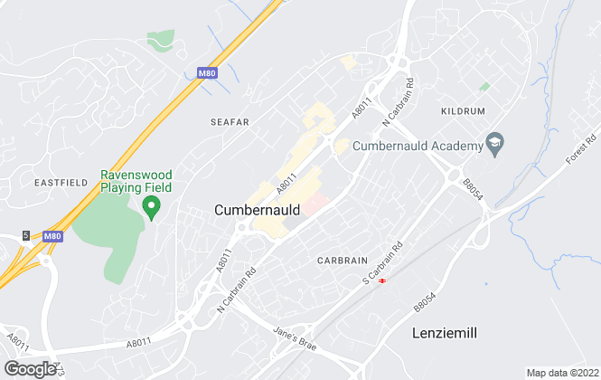 Map for YOUR MOVE, Cumbernauld