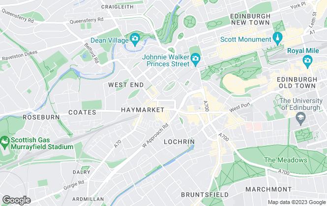 Map for Blackadders LLP, Edinburgh