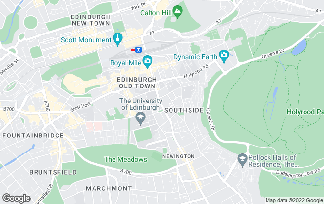 Map for SouthSide Property Management, Edinburgh