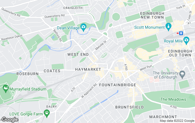 Map for Dove Davies & Partners, Edinburgh