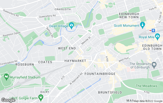 Map for Burgh Property, Edinburgh