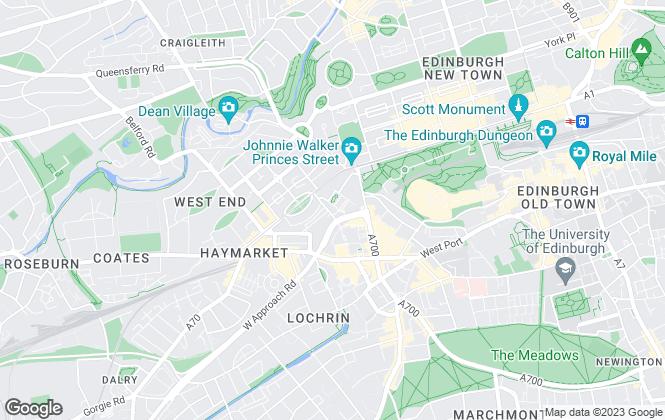 Map for Grant Henderson Ltd, Edinburgh