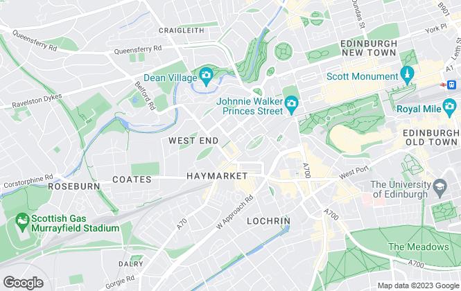 Map for 1LET, Edinburgh - Lettings