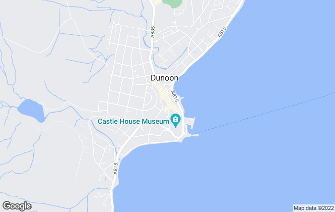 Map for Waterside Property, Dunoon