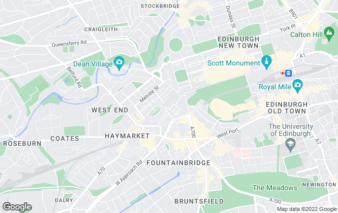 Map for Gilson Gray LLP, Edinburgh