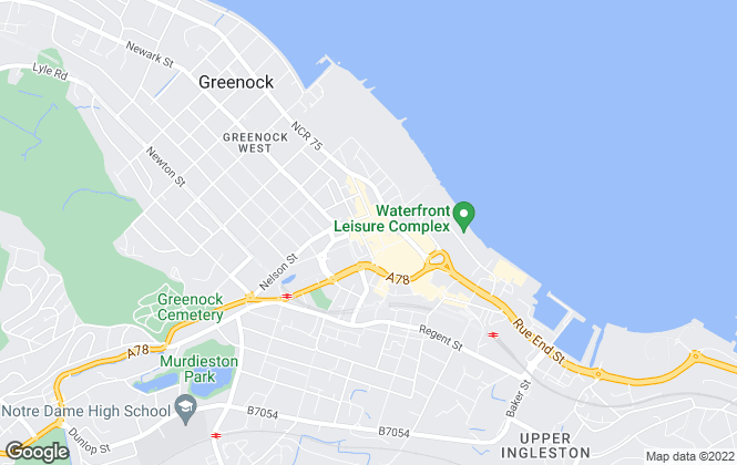 Map for Fixed Price Online, Greenock