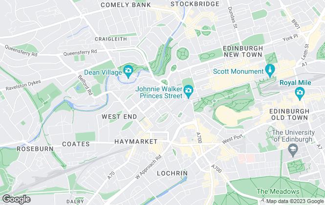 Map for Ballantynes, Edinburgh