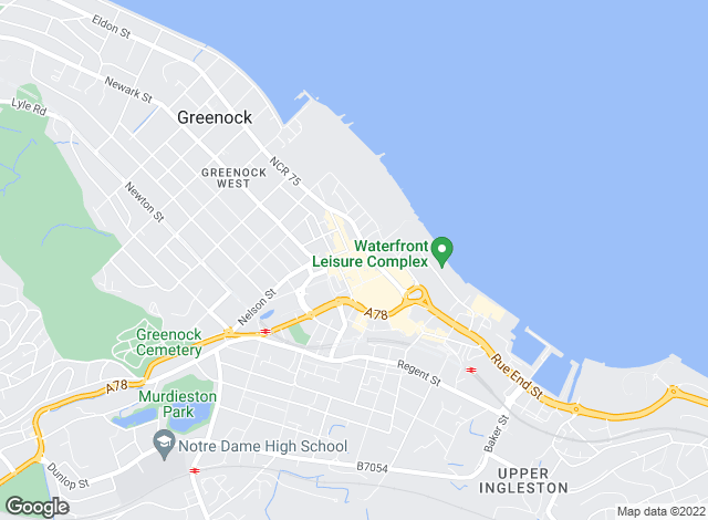 Map for Neill Clerk, Greenock