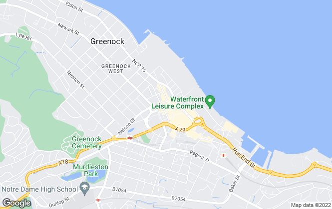 Map for Slater Hogg & Howison, Greenock