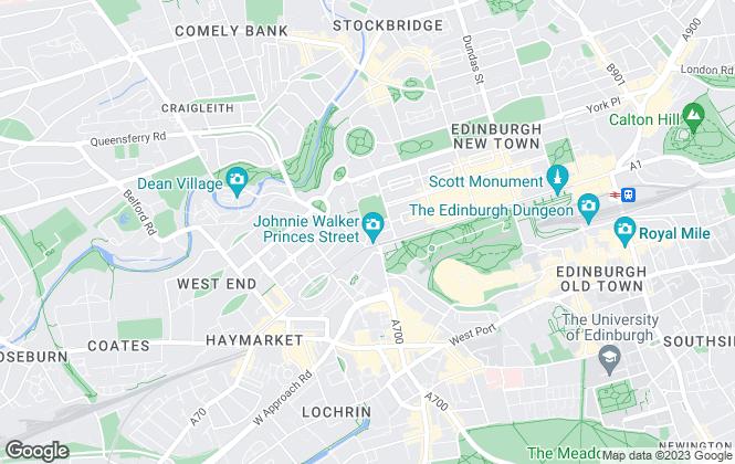 Map for Burgh Property, Edinburgh