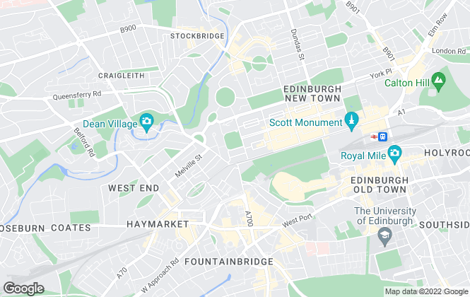 Map for Boyd Letting, Edinburgh