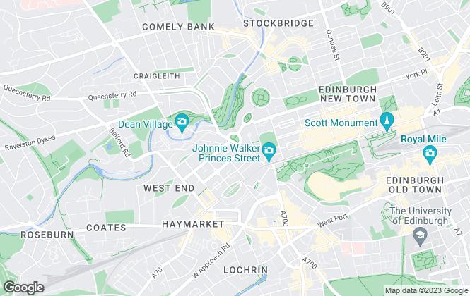 Map for Direct Lettings (Scotland) Ltd, Edinburgh