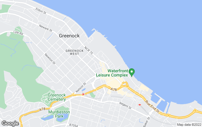 Map for Homefinders Estate and Letting Agents, Greenock