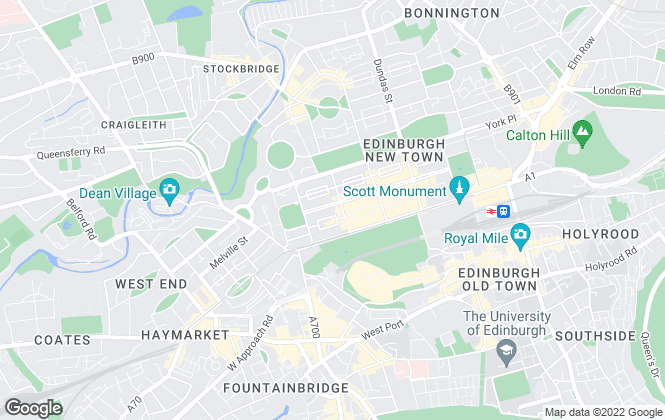 Map for Pagan Osborne, Edinburgh