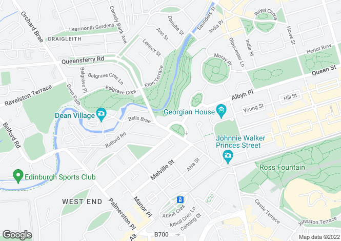Map for 11, 12 & 13  Randolph Crescent, Edinburgh, Midlothian