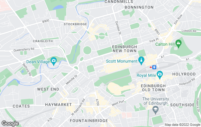 Map for Church of Scotland, Edinburgh