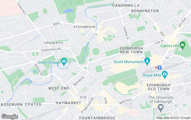 Map for Argento Estate Agents Limited, Edinburgh