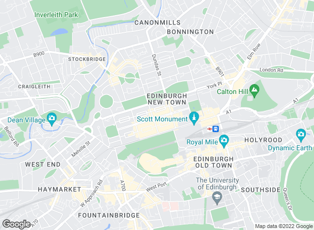 Map for CKD Galbraith, Edinburgh