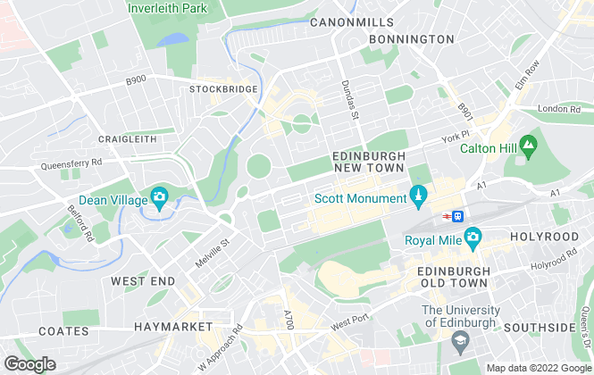 Map for Murray & Currie, Edinburgh Lettings