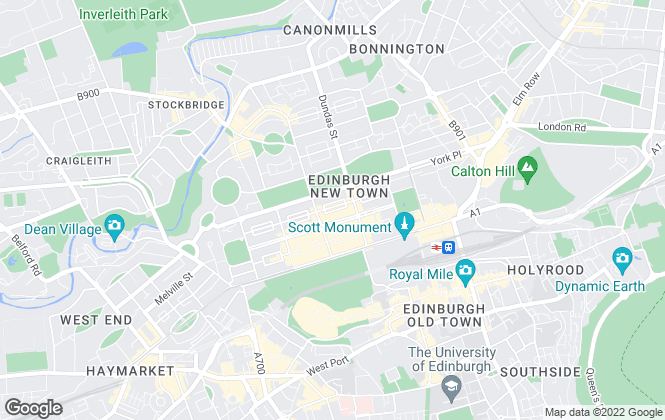 Map for Cox & Co, Edinburgh - Lettings