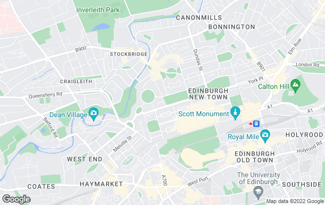 Map for Rettie & Co , Edinburgh Sales