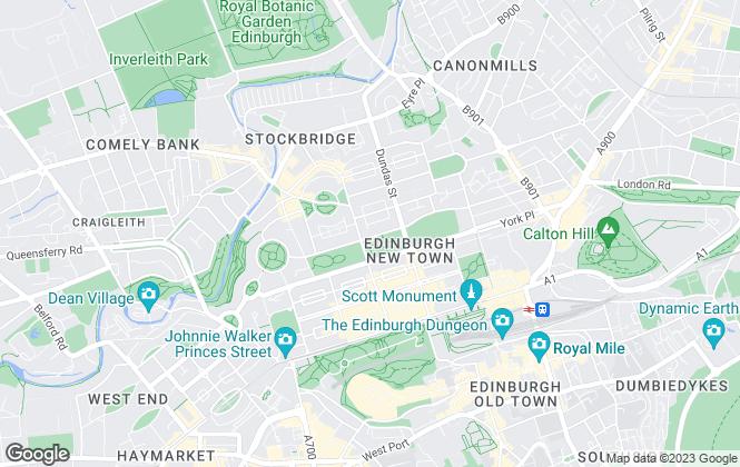 Map for Urquharts Solicitors, Edinburgh