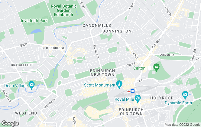 Map for Sturrock, Armstrong and Thomson, Edinburgh