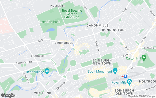 Map for Zone Letting, Edinburgh