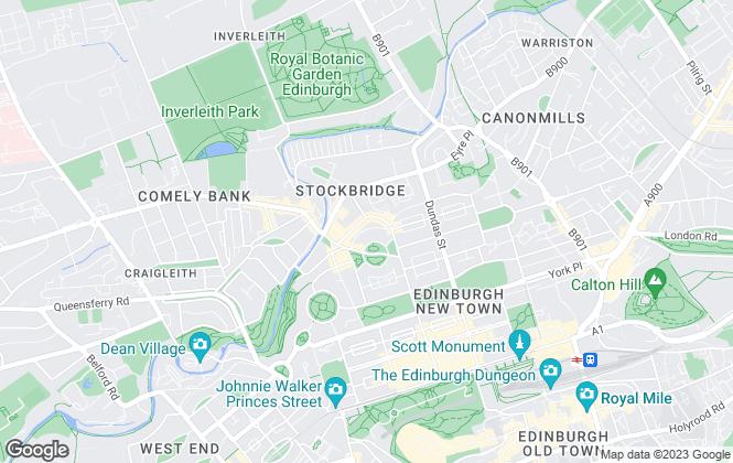 Map for O'Neill, Edinburgh