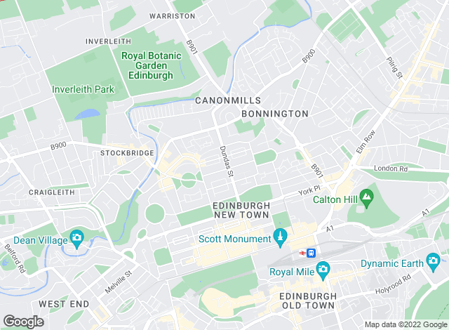 Map for D J Alexander, Edinburgh