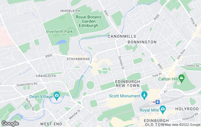Map for Bruce Rae Property Management, Edinburgh