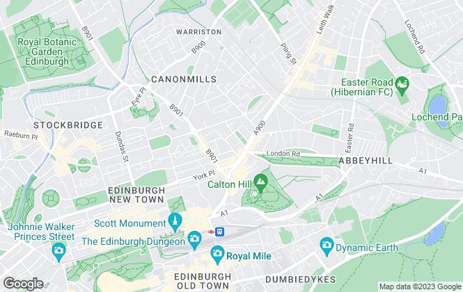 Map for Drummond Miller, Edinburgh
