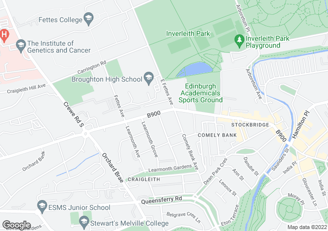 Map for 67 Comely Bank Road, STOCKBRIDGE, Edinburgh