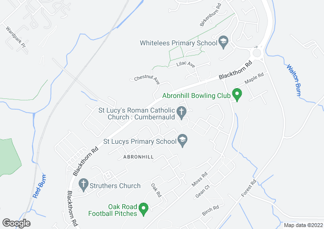 Map for Cherry Avenue, Cumbernauld