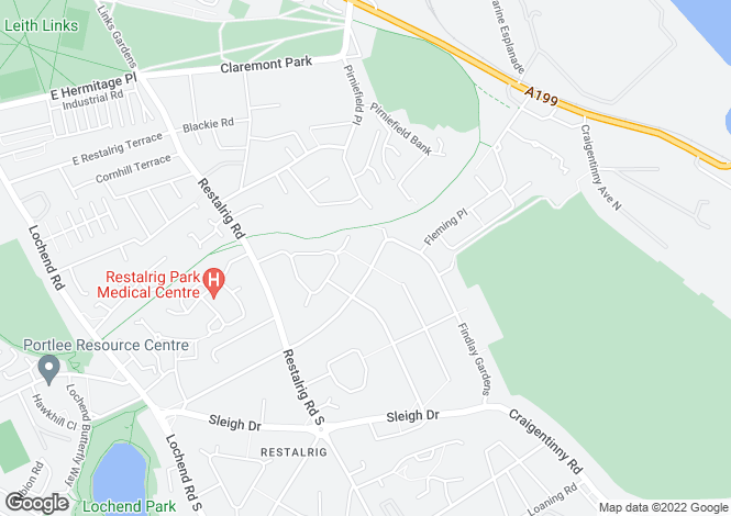 Map for 52 Restalrig Crescent, Restalrig Crescent, Edinburgh, EH7 6HH