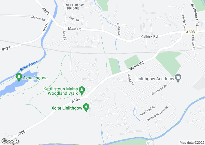 Map for Mains House, Mains Road, Linlithgow, EH49 6QA