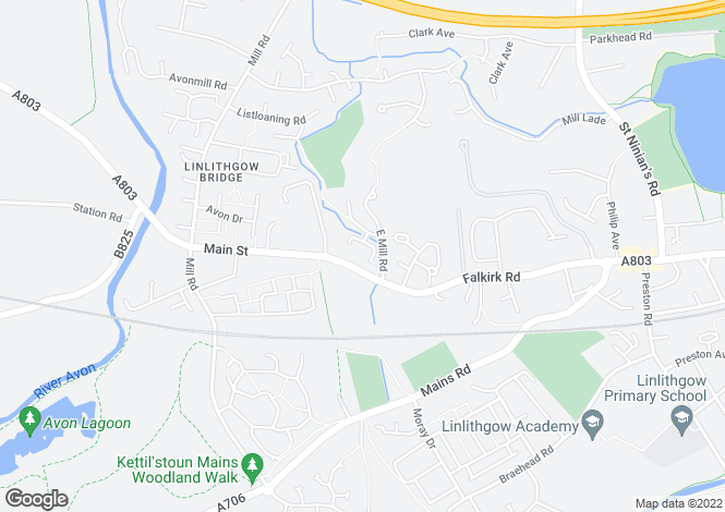 Map for Broomyhill Place, Linlithgow EH49