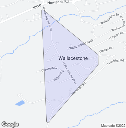 Map of property in Wallacestone