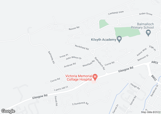 Map for John Wilson Drive    Kilsyth